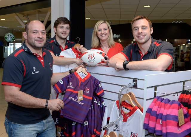 Ulster rugby stars give Aelia a winning start