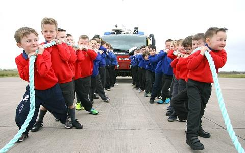 Heave ho! Boys Brigade pull together for fundraising campaign