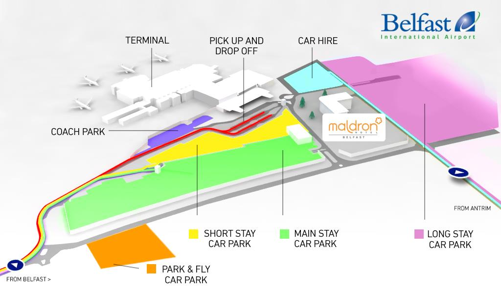 Car parking locations at belfast international airport car park information ccuart Images