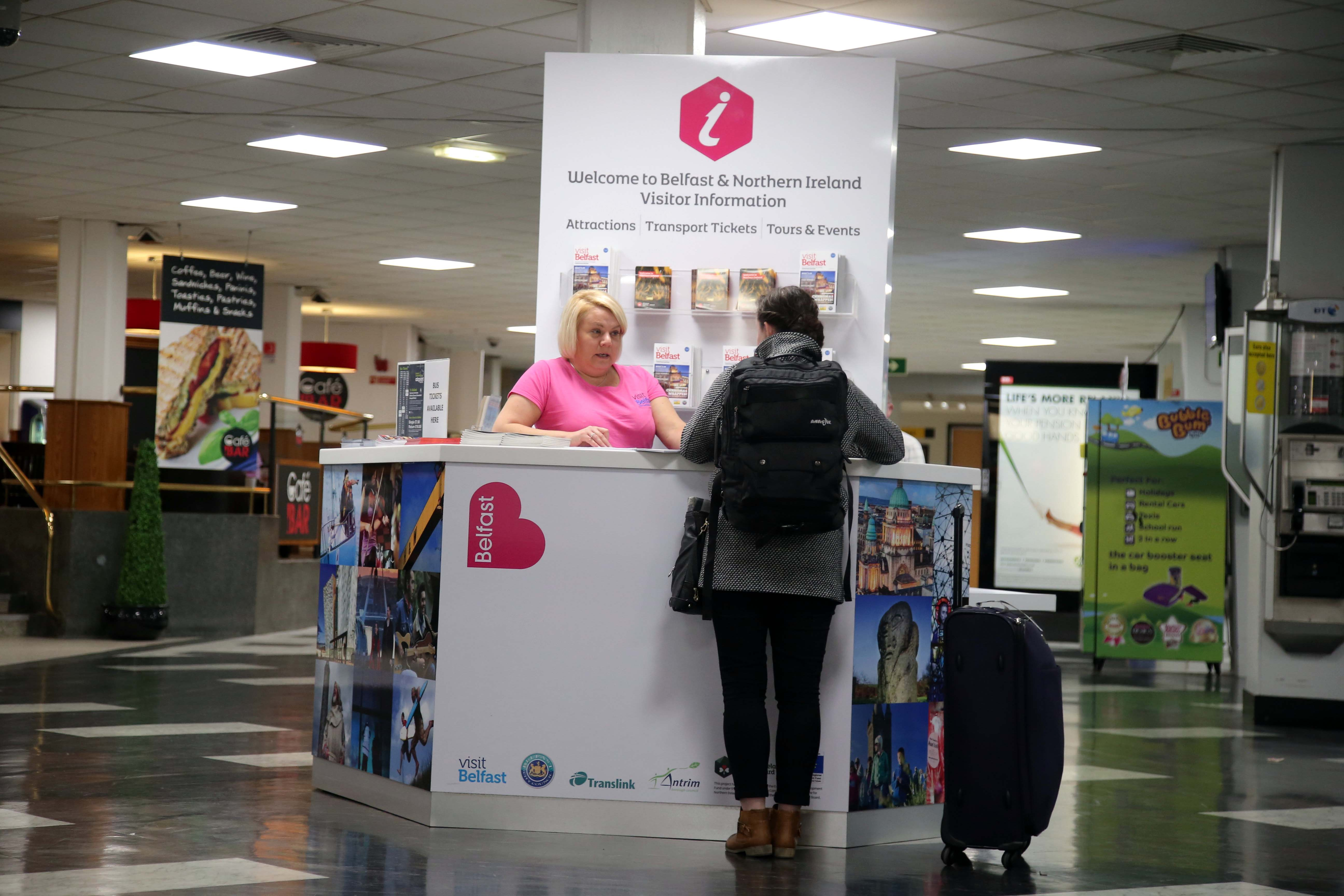 Airport tourist info pod breaks records
