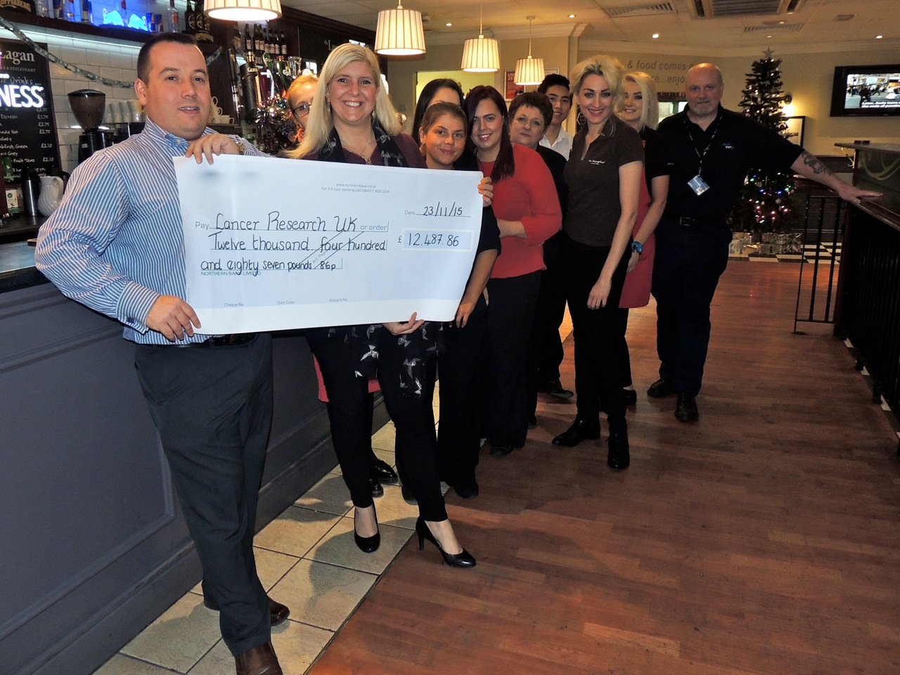 SSP staff raise record amount for cancer charity
