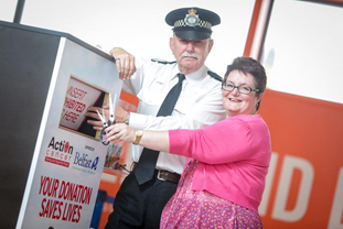 Belfast International Airport and Action Cancer Sharpen Up Their Act!