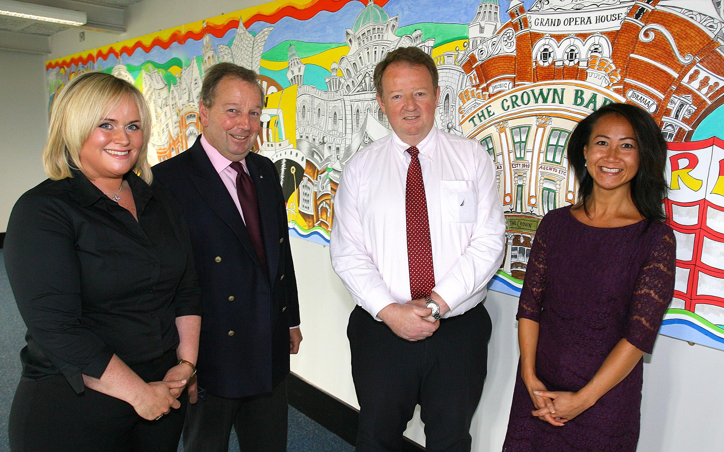 Belfast International Airport showcases mural by local artists