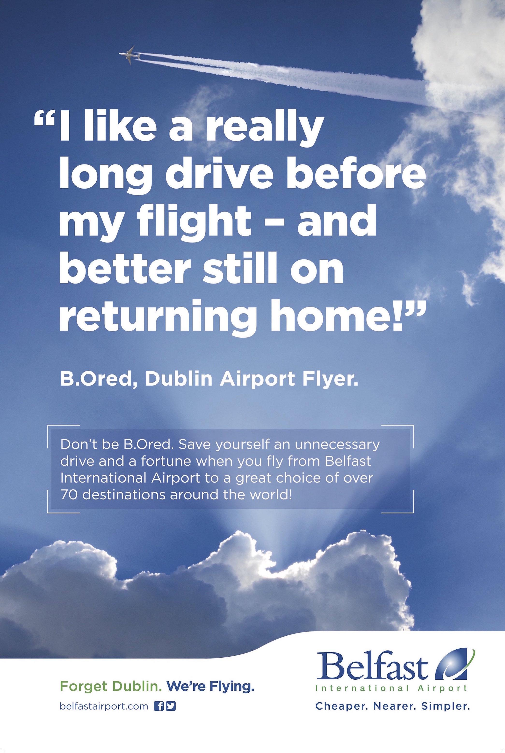 'Better value' Belfast International Airport targets Dublin in Phase Two of RoI ad campaign