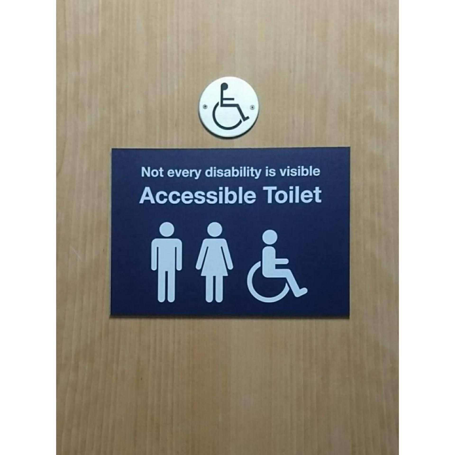Belfast International  announces new toilet signage for 'invisible' conditions