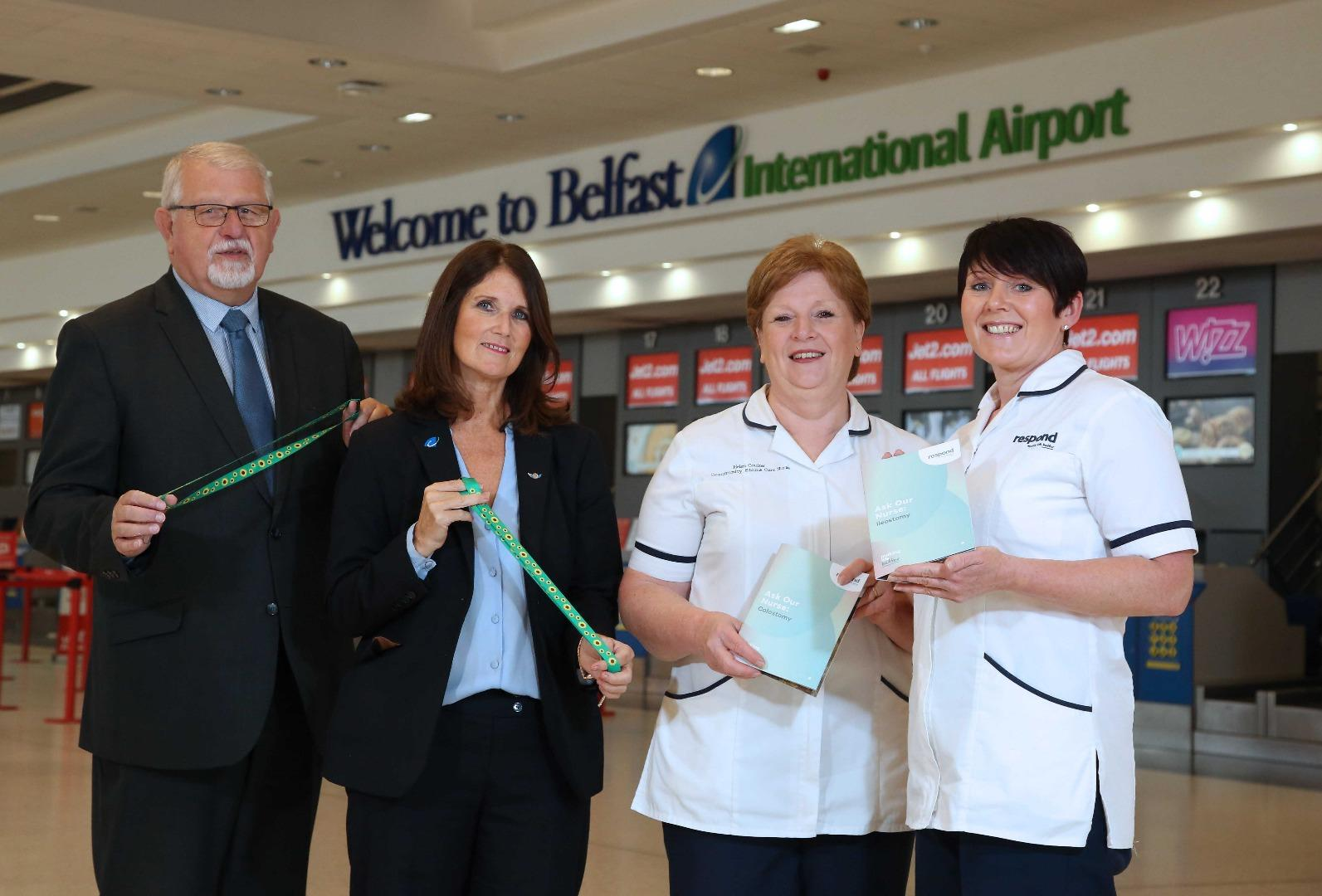 Security staff at  Belfast International trained on helping passengers with stomas
