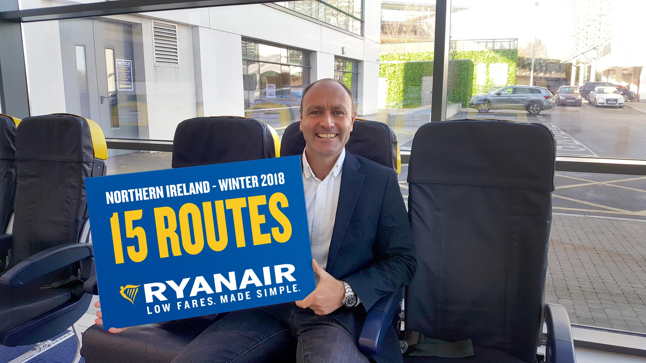 RYANAIR LAUNCHES NORTHERN IRELAND WINTER 18 SCHEDULE