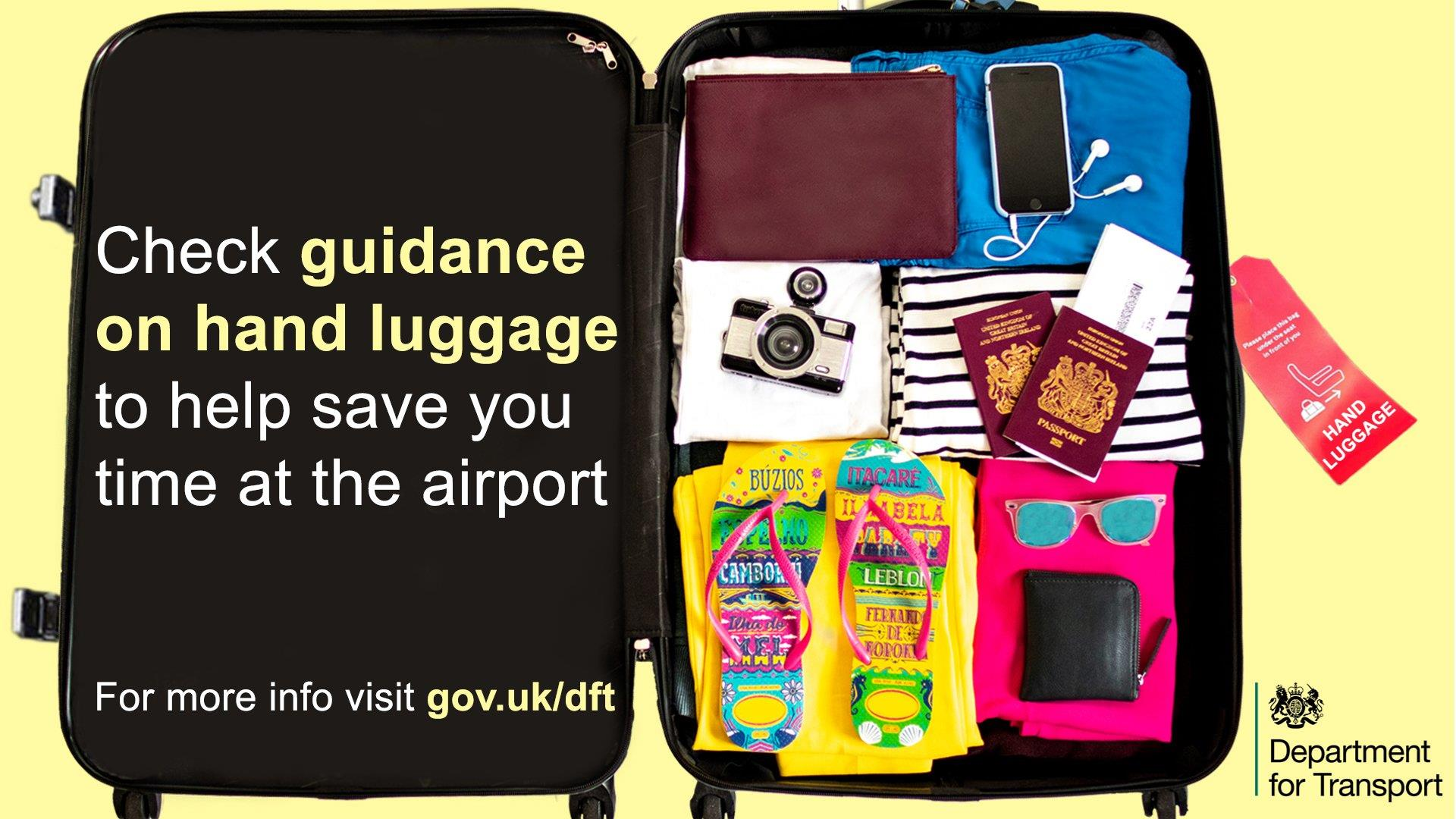 Be Travel Aware - pack smartly and prepare for security