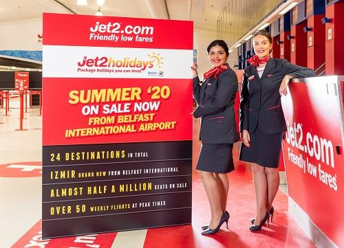 Jet2.com and Jet2holidays Add Brand New Destination from Belfast International for Summer '20