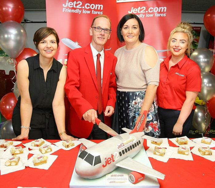 Jet2.com celebrates 15 years of flying from Belfast International