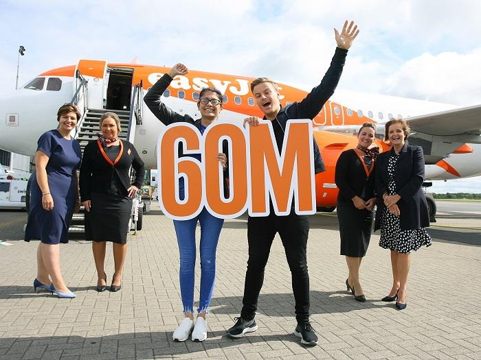 easyJet celebrates flying 60 million passengers at Belfast International Airport